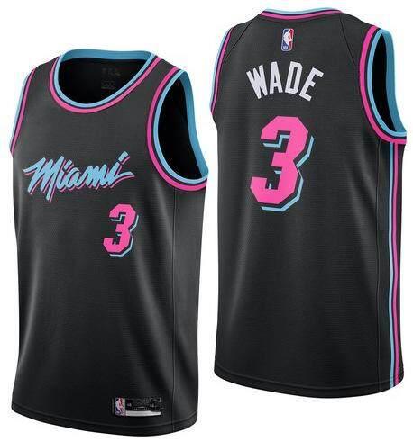 Deal tại Lazada cho Wade Miami Heat Jersey Áo Bóng Rổ NBA Wade No.3 Phiên Bản Thành Phố Quần Áo Chơi Bóng Rổ NBA Áo Jersey Nhóm Luyện Tập Bóng Rổ Áo Sơ Mi