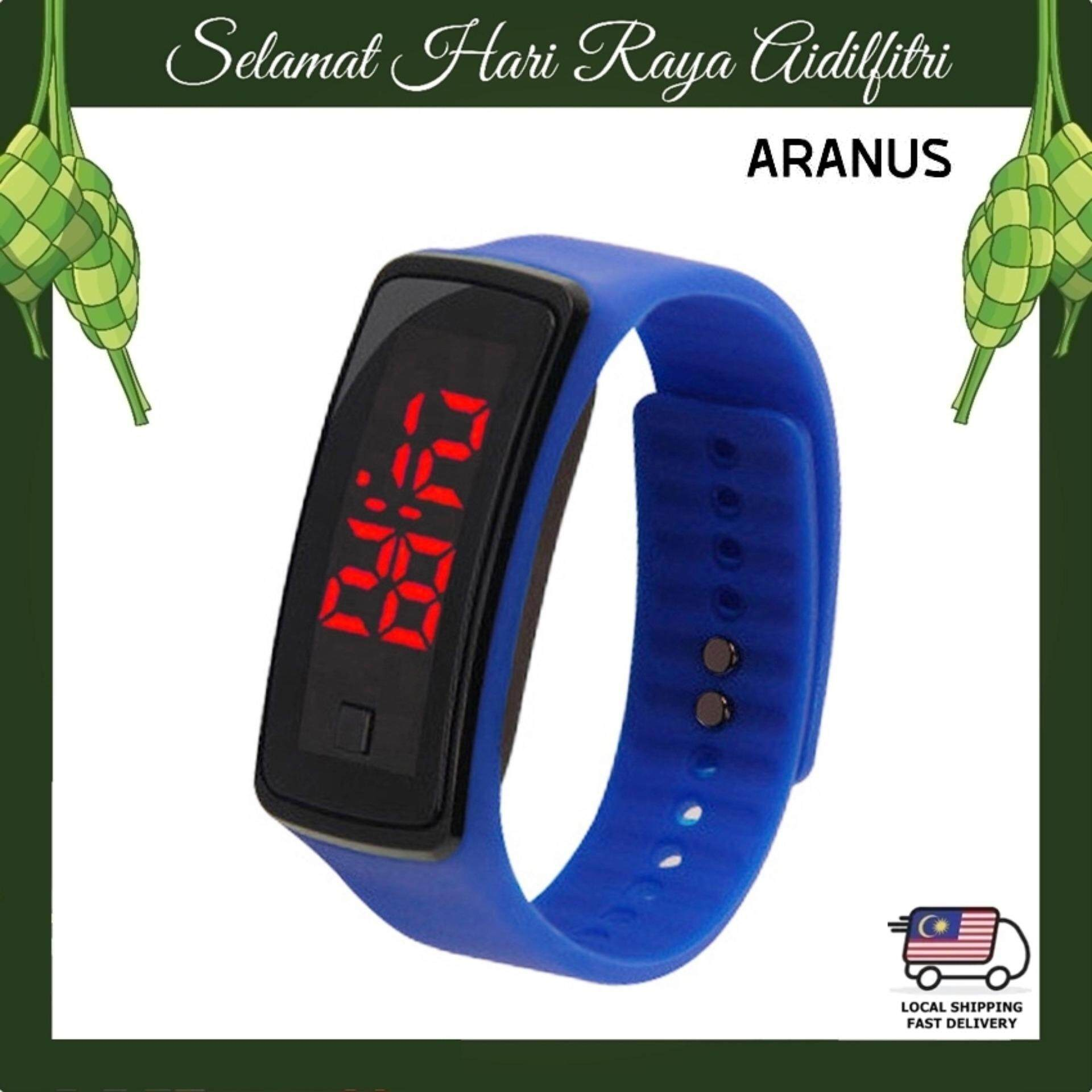 ARANUS Men Women Kids Unisex Candy Color Jelly LED Touch Bracelet Digital Sports Watch Casual Bracelet Silicon Wrist Band Malaysia