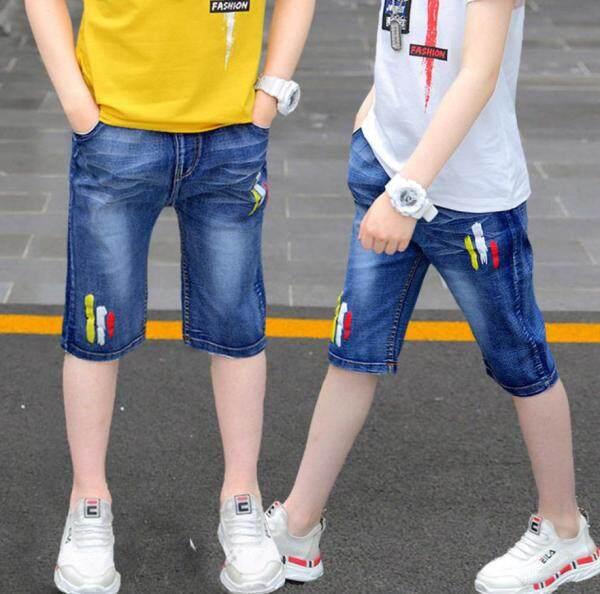 Nơi bán Holidaykids Trẻ Em Của Mặc Quần, Trong Mùa Hè Bé Trai Jeans Quần Soóc Trẻ Em, Quần Ống Túm Quần Lót Giải Trí Phiên Bản Hàn Quốc Cho Bé Trai AHFP0003