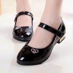 (QQQ MALL) Giày Cho Trẻ Sơ Sinh Trẻ Em Em Bé Bé Gái Pha Lê Lấp Lánh Nơ Đơn Giày Công Chúa Giày Dép Cho Trẻ Em Giày Bé Gái Cho Trẻ Em Giày Bé Gái Giày Trẻ Em Cho Bé Gái 2.5-3 Tuổi