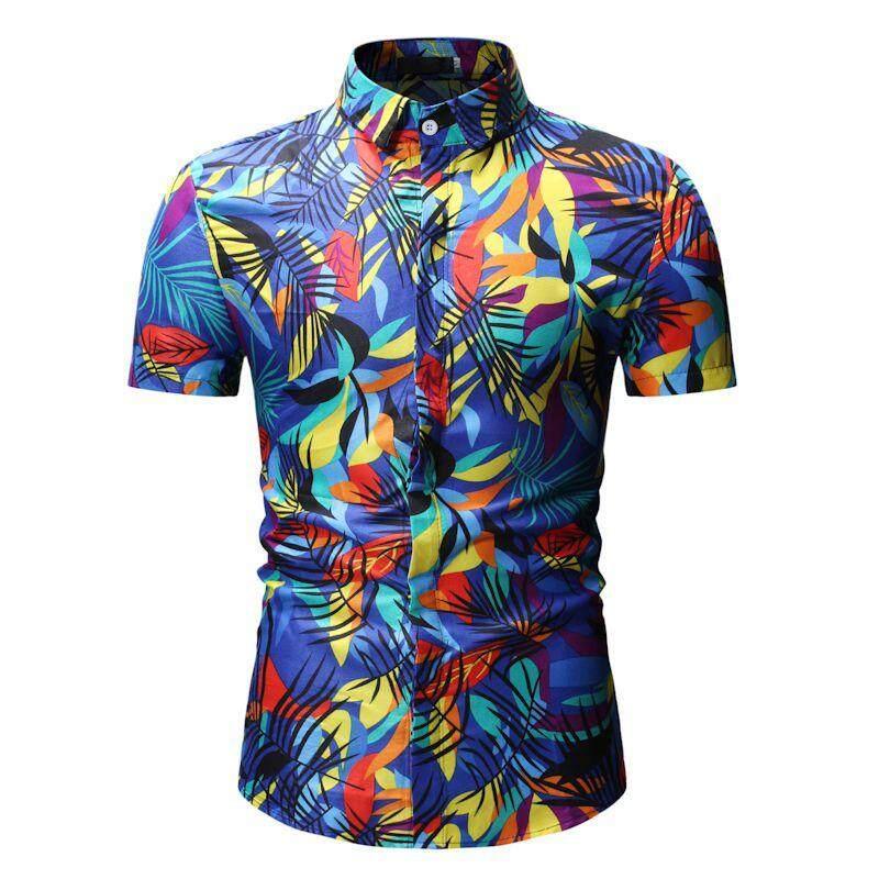 c1dd188f New Arrival Mens Hawaiian Shirt 2019 Male Casual Camisa Masculina Printed  fashion Beach Shirts Short Sleeve