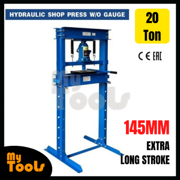 Mytools CE Certified 20 Ton Hydraulic Shop Press Heavy Duty High Capacity H-Frame Floor Press Type Jack Stand with Plate