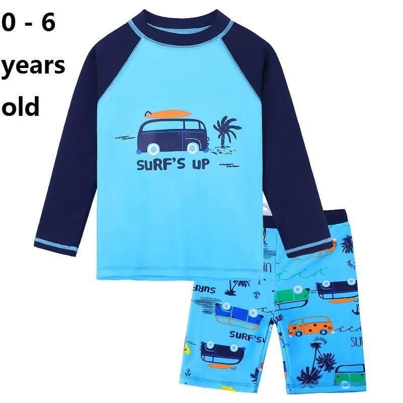 626b278774 4-11 years old size girls fashion girls blue swimwear Long Sleeve two-piece