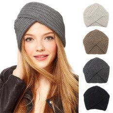 1 Cái Bán Hot New Hồi Giáo Hat Len Dệt Kim Hat Turban Ấm Mùa Đông Dệt Kim Turban Hat Rắn Trung Tâm Chữ Thập Phụ Nữ Tóc Khăn