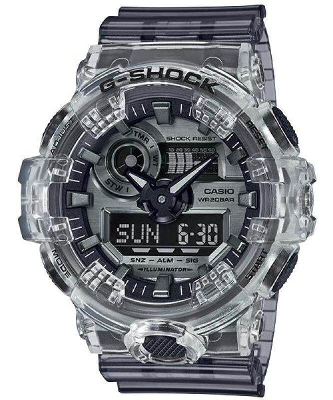 Original G-Shock Special Color Models GA-700SK-1A Mens Watch (Transparent Grey) Malaysia