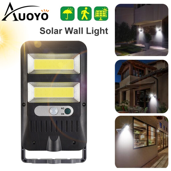 Auoyo 36LED Solar Wall Light Wireless 120° Motion Sensor Lights COB Outdoor Lighting with Rotatable Stand Mounting Pole IP65 Waterproof Security Lamp for Garden Front Door Pathway Yard