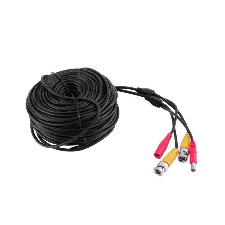 HORI Black 30m BNC CCTV Video Power Cable CCD Security Camera Cable DVR Wire Cord