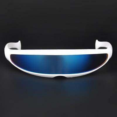 Futuristic Mirrored Lens Narrow Cyclops Sunglasses Laser Personality Costume Eyewear Glasses Funny Party Mask Decoration