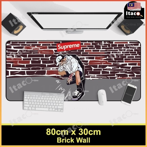 ITACO Supreme Large Gaming Thickened Desktop Keyboard Mouse Pad Laptop Accessory (Brick Wall) Malaysia