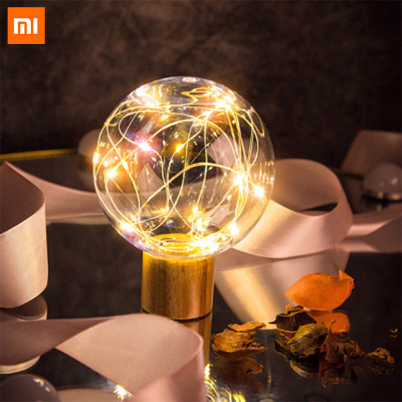 Xiaomi Mijia Qualitell Portable Crystal Clear Starry Sky Night LED Light Energy Efficient Low Power Consumption Lamp Bedside Sleep Desk Soft Light With Eye Protection Holiday Romantic Gifts For Girls