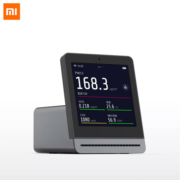 Xiaomi Mijia ClearGrass Air Monitor Retina Touch IPS Screen Mobile Touch Operation Indoor Outdoor Clear Grass Air Detector Support Mijia APP Multi-mode Unique style Two-color Design Aluminum-magnesium Alloy Body For Home Office Singapore