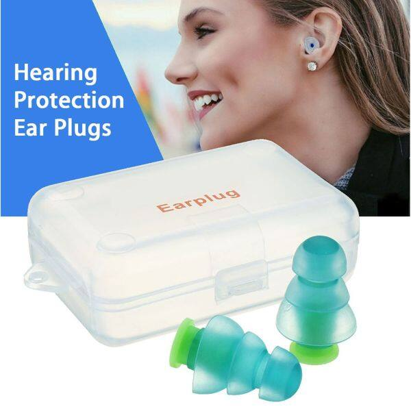 GAFQFR Musician Soundproof Motorcycles Reusable Hearing Protection Silicone Ear Plugs Noise Cancelling