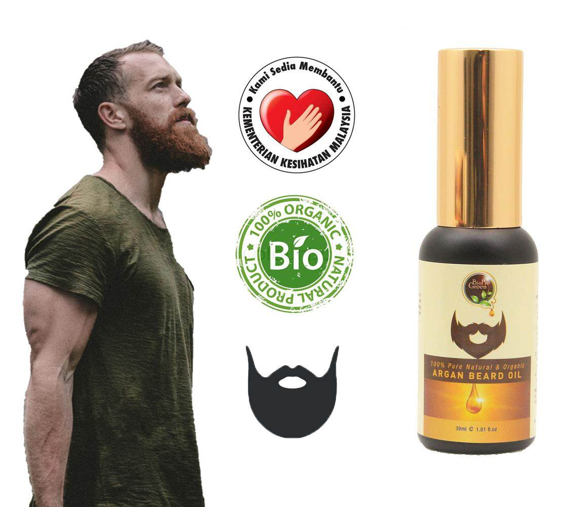 Pure Beard Oil - Essential Argan Oil For Fast Growth Beard Hair - 30 Ml - Minyak Janggut Morocco Imported (kkm Approved) By Ray Biz.
