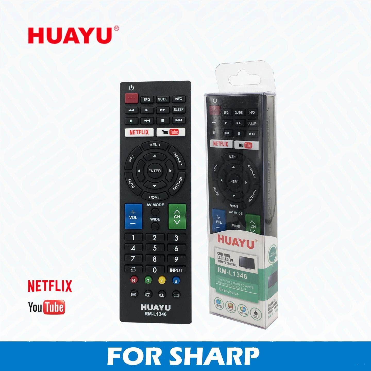 HUAYU Remote Control For SHARP SMART 3D NETFLIX TV LED/LCD RM-L1346 _3106036