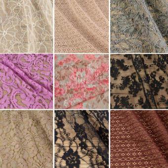 นำเข้าจากญี่ปุ่นคุณภาพสูงเปิดผ้าปักลูกไม้เสื้อผ้าหญิงผ้าชุดเดรสเสื้อการตกแต่งเนื้อผ้า