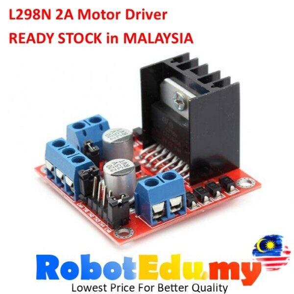 Arduino L298N 2A DC Motor / Stepper Motor Driver Speed Controller Module Board Dual H Bridge for Smart Robot 2WD 4WD Robotics RC Car