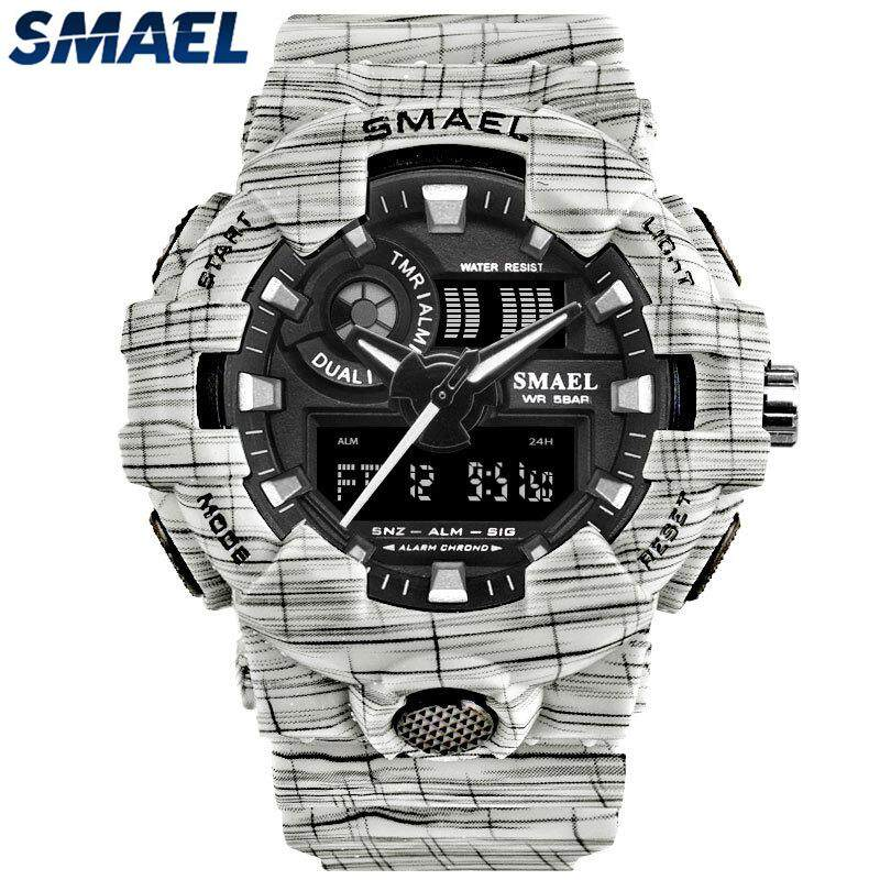 56a2465a60e SMAEL Mens Sport Watches Dual Display Analog Quartz Watch Men Fashion  Digital Clock Waterproof Electronic Military