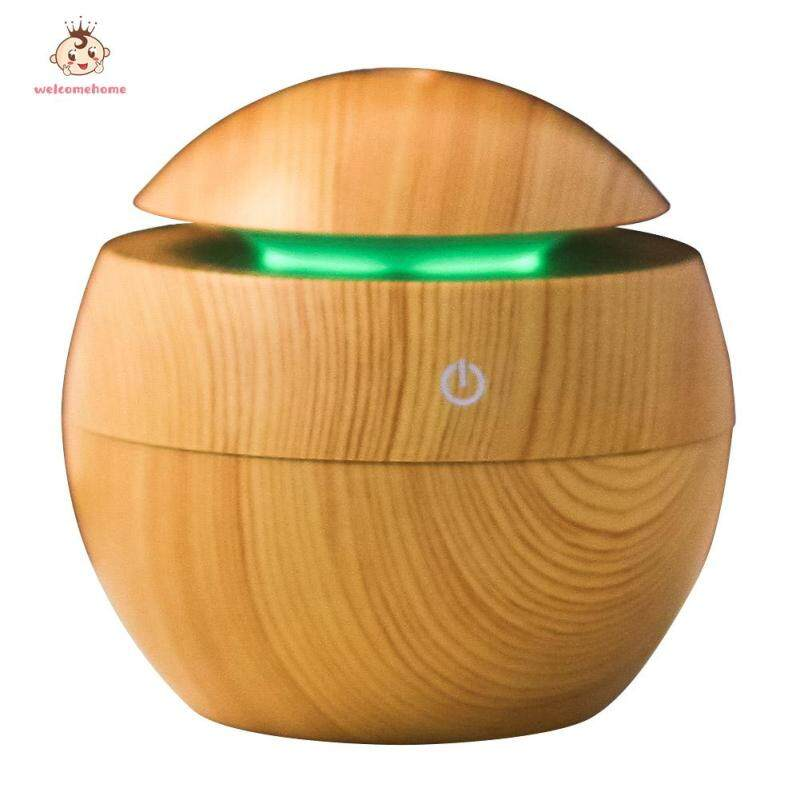Ultrasonic Wood Grain Air Humidifier Mist Maker Air Dampener for Household Rooms Cars Airs Supplies Singapore