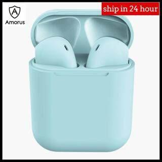 Tai Nghe Không Dây Bluetooth Amorus S12, Tai Nghe Trong Tai Thể Thao Âm Trầm Nổi Cho Điện Thoại IPhone Và Android thumbnail