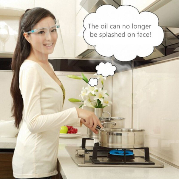Safety Kitchen Cooking Anti-Oil Splash Clear Face Cover Protector Kitchen Accessories Random Color