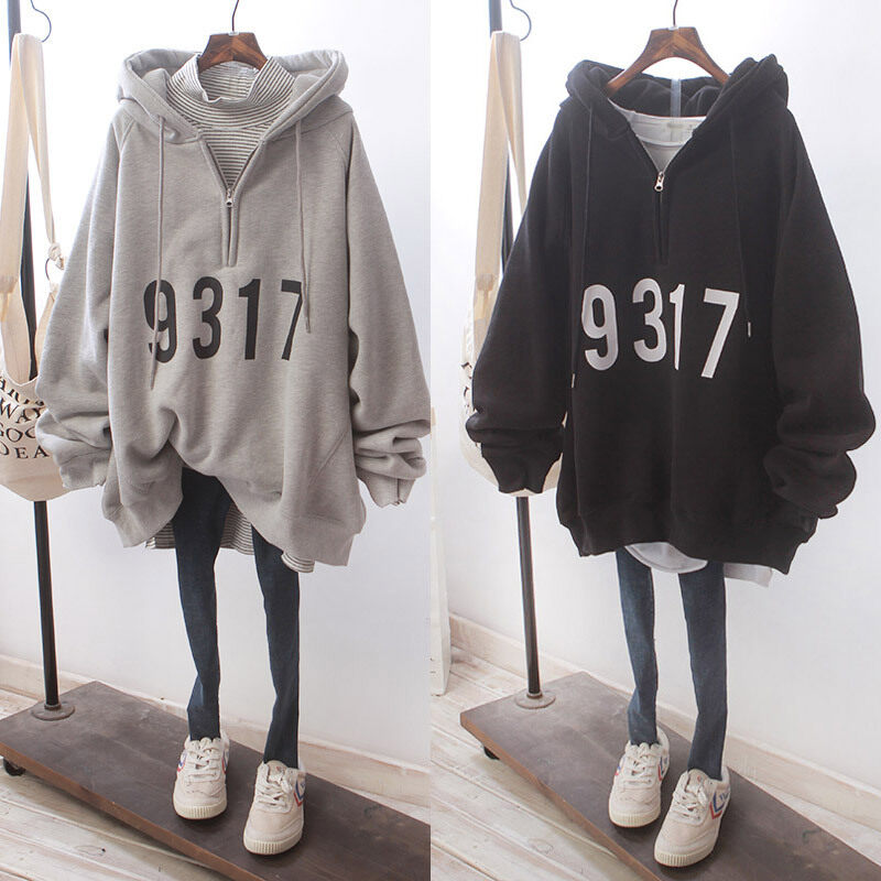 Thin hooded sweater new female student Korean style loose print pullover jacket trend women jacket girl jacket