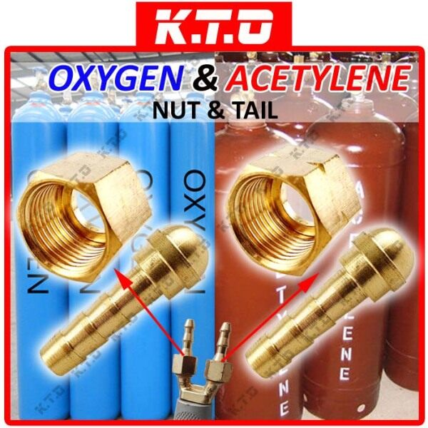 OXYGEN ACETYLENE NUT TAIL for CUTTING TORCH REGULATOR