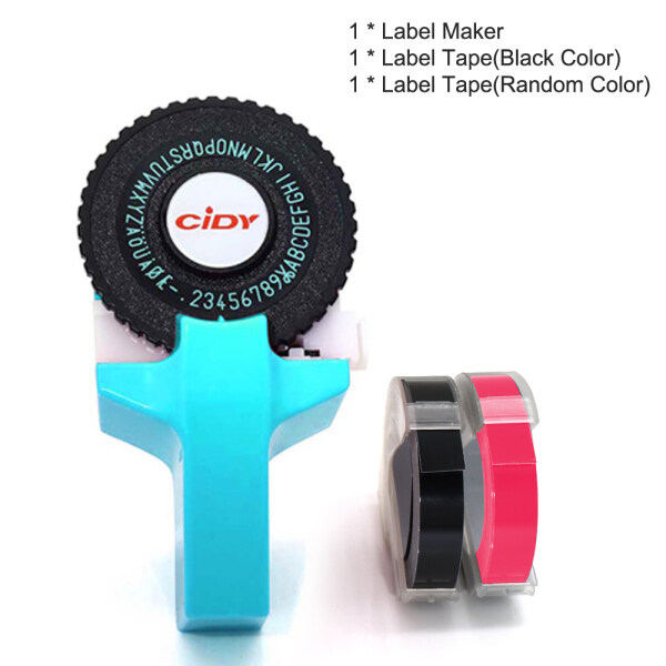 Mua Mini Xách Tay Nhãn Maker DIY 3D Dập Nổi Nhãn Writer Máy In Máy Đánh Chữ Với Nhựa PVC 9 Mét Nhãn Băng Máy Chữ