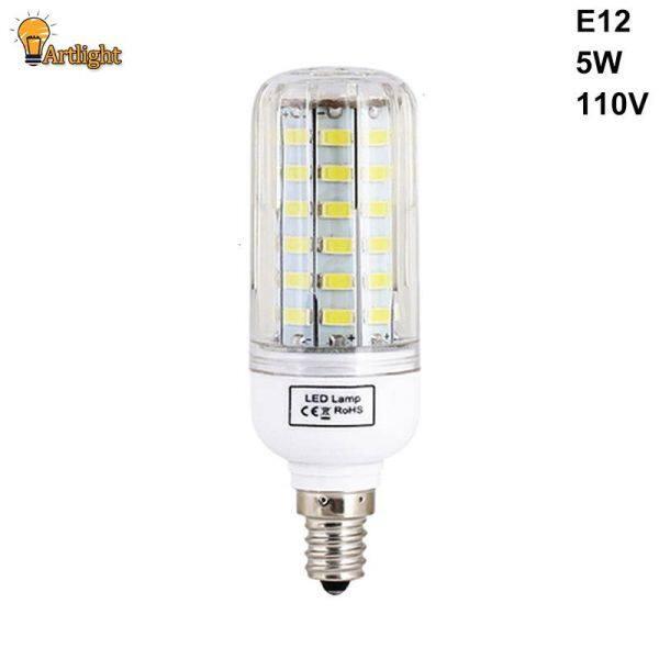 E27 E14 E12 LED Ngô Bóng Đèn, Đèn SMD Tiết Kiệm Điện 110V/220V 5736 Trang Trí Nội Thất Ánh Sáng
