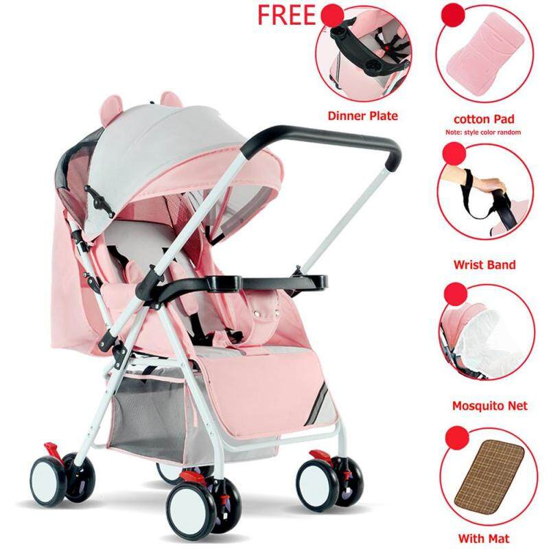 RD Portable Folding Outdoor Double Way Lying Sitting Stroller with 4 Wheels for Kids Infant Baby Singapore