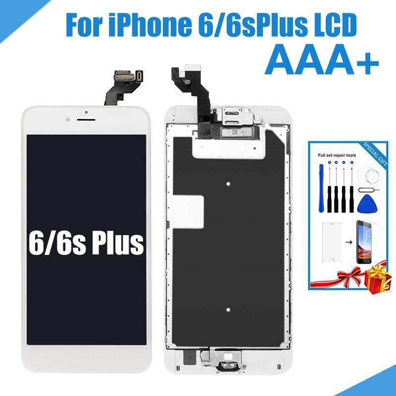 Paket Lengkap LCD untuk Iphone 6 6 S PLUS Layar Perakitan Lengkap Menampilkan 6 6 S Plus Pergantian Digital dengan Kamera Depan Rumah tombol