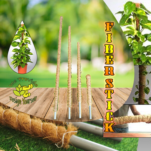 [GT51] 4 Height Selection Garden Tools Peat Moss Fiber Stick Stand For Climbing Plant Improve & Deco Place Money Plant Best Match