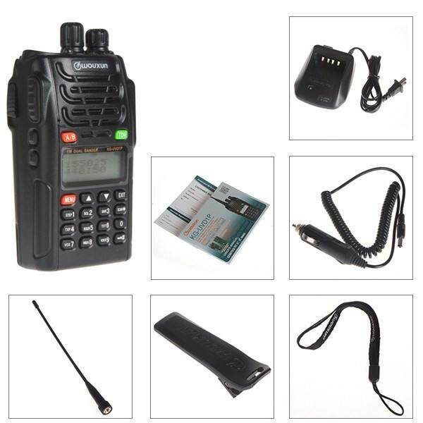 WouXun KG-UVD1P VHF UHF Dual Band Dual Display Dual Standby Waterproof  Two-way Radio Walkie Talkie - US