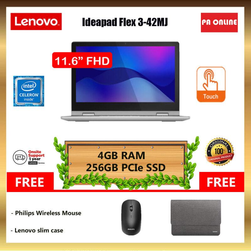 Lenovo IdeaPad Flex 3 82B20042MJ -Intel Celeron N4020 /4GB RAM /256GB SSD /11.6HD IPS Touch /Win 10 /1 Year Malaysia