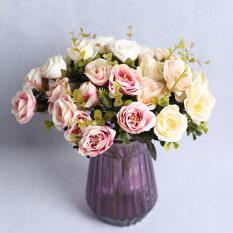 Houseeker 10 Rose Mini Đầu Hoa Phong Cách Cổ Điển Mô Hình Giả Cho Trang Trí Tiệc Cưới