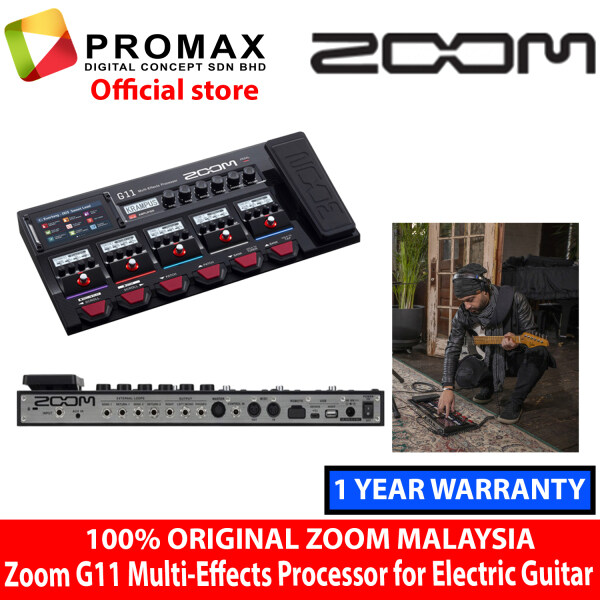 Zoom G11 Multi-Effects Processor for Electric Guitar (100% Original Zoom) Malaysia
