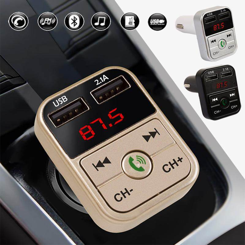 Bluetooth Car Kit 2 Usb Fm Transmitter Wireless Radio Adapter Charger Mp3 Player Gold By Miss Meimeidass Store.