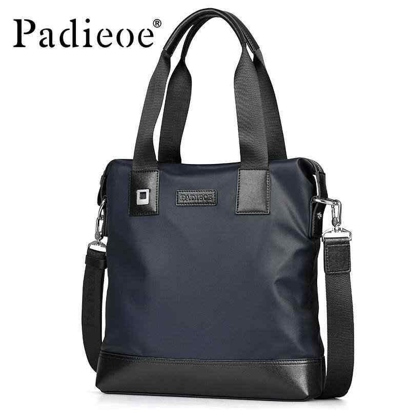 NiceSky Padieoe Mens Waterproof Shouder Bag Casual Tote Bag Nylon Messenger Bags Business Luxury Designer Handbag Briefcase For Male(bule)