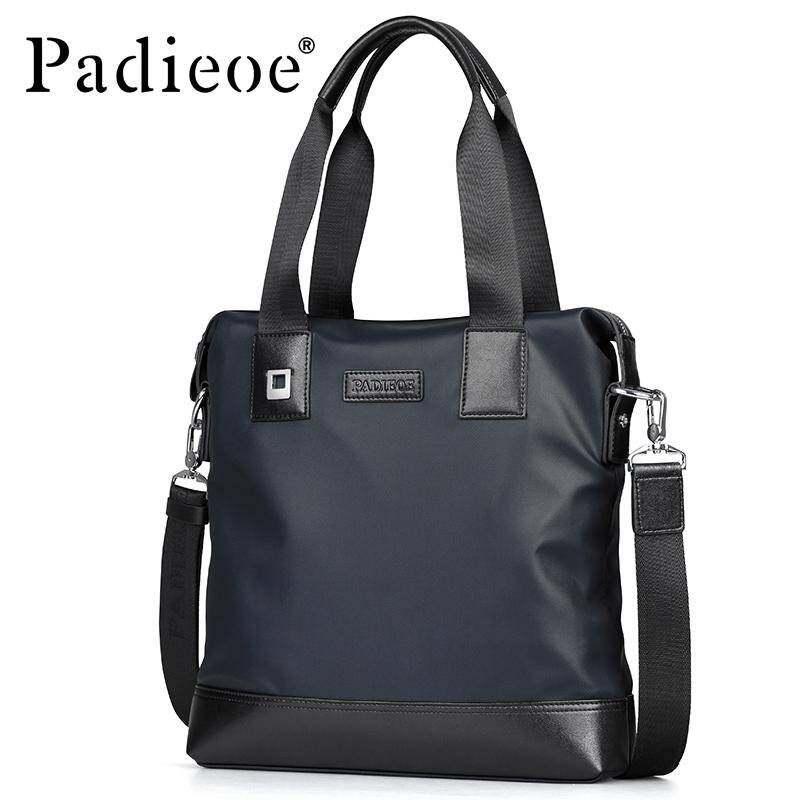 ALLMAX Padieoe Mens Waterproof Shouder Bag Casual Tote Bag Nylon Messenger Bags Business Luxury Designer Handbag Briefcase For Male(bule)