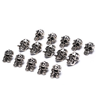 AYUYTDB 5Pcs Lot Paracord Beads Metal Skull For Paracord Bracelet Accessories thumbnail