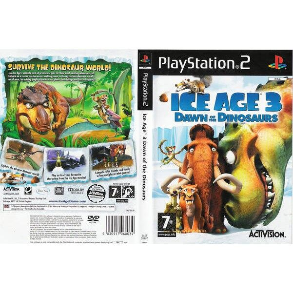 ps2 ice .age 3 dawn of the dinosaurs ( Gold Disc )