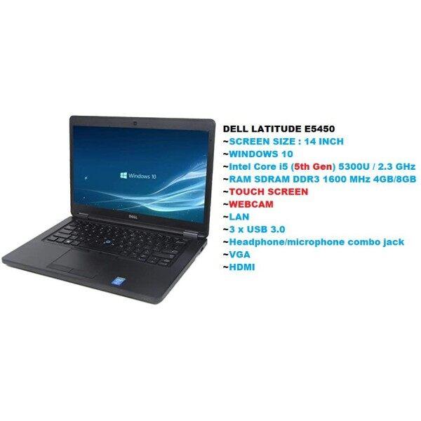DELL Latitude E5450 14  TOUCH SCREEN Laptop, intel Core 5th Generation,  i5-5300U @2.3GHz, Intel HD Graphics 5500, Webcam, Bluetooth,HDMI, Windows 10 Pro 64bit Malaysia