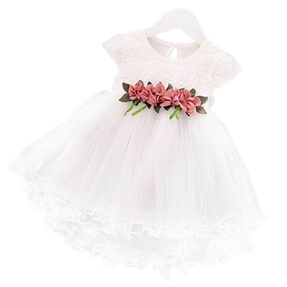 Dresses 1-6y Kids Girls Birthday Dress Summer Girl Princess White Dresses Baby Red Cherry Clothes 2 4 5 6 Years Children Cotton Clothing Fashionable And Attractive Packages