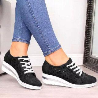 Đi Kèm Giày Chạy Cho Nữ Thể Thao Giày Đi Bộ Đơn Giản Giày Sneaker Kiểu Dáng Chắc Chắn Giày Thể Thao Có Dây Buộc thumbnail