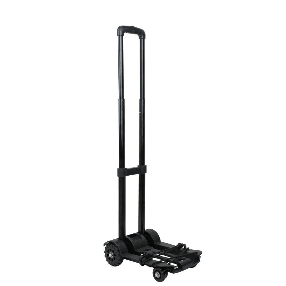 Portable Foldable Luggage Shopping Travel Cart Flatbed Trailer Trolley Barrow With Black Pull Rod By Tomnet.