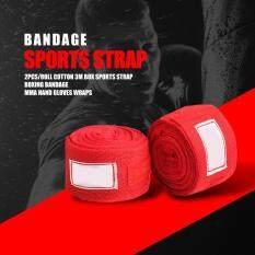 2 Cái/cuộn Cotton 3M Hộp Dây Đeo Thể Thao Boxing Băng MMA Găng Tay Tay Wraps