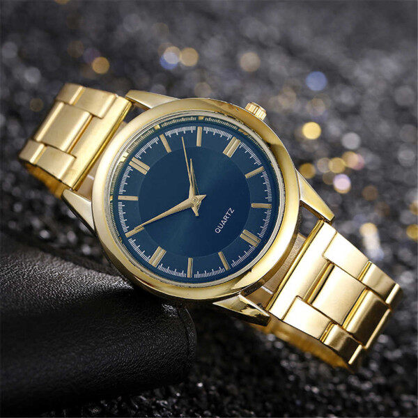 In Stock Mens Business Casual Stainless Steel Mesh Belt Watch Simple Dial Quartz Watch On Sale Malaysia