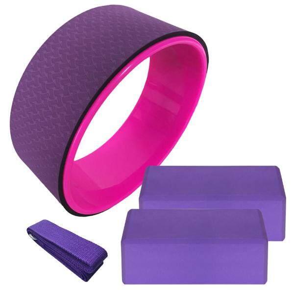 Bộ 4 Thiết Bị Yoga Bánh Xe Yoga Dây Đeo Kéo Dài Bằng Vải Bông Ổn Định Khối EVA Bộ Tập Yoga Pilates Tập Thể Dục Thiền