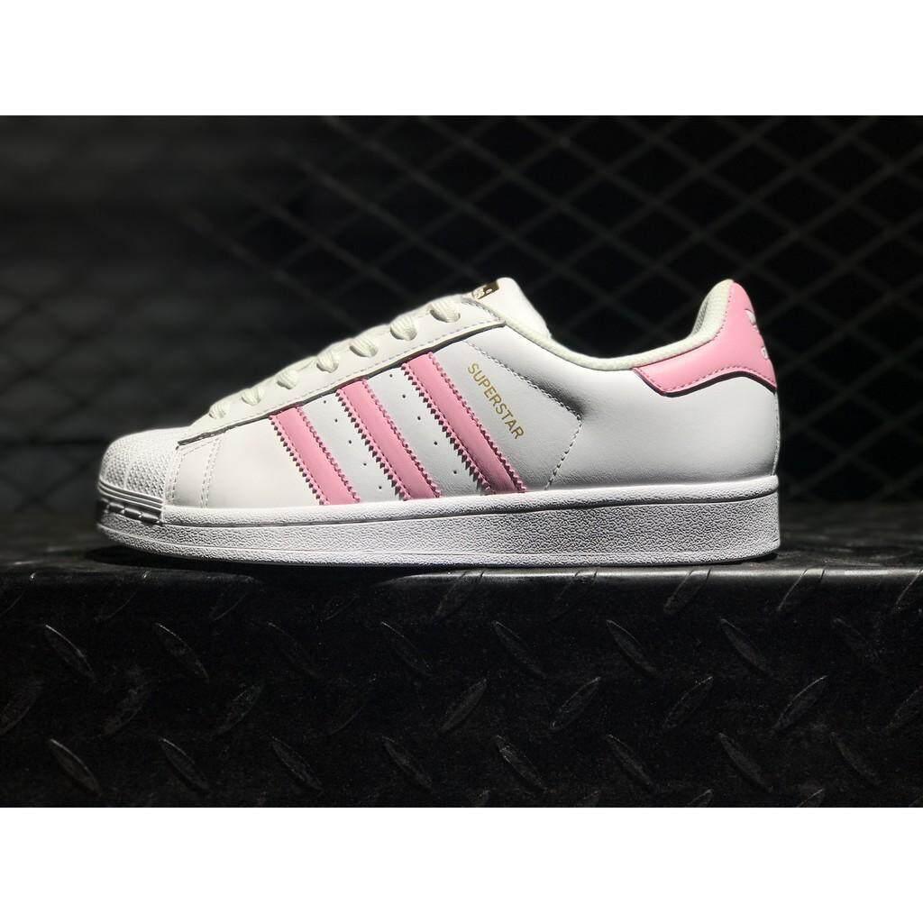 fcb007b660a adidas original superstar junior white pink skateboard shoe for women size36 -39