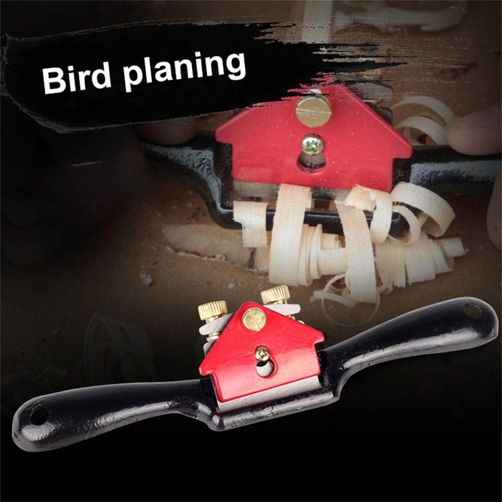 9 Inch Steel Bird Planer Small Iron Hand Carpenter Woodworking Planing Adjustable Wood Trimming Tool 210mm