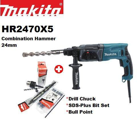 MAKITA HR2470X5 Combination Hammer 24mm